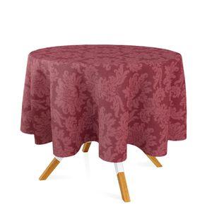 toalha-redonda-tecido-jacquard-vinho-marsala-medalhao-tradicional