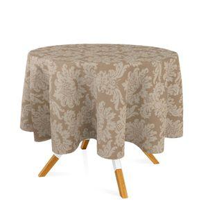 toalha-redonda-tecido-jacquard-bege-escuro-fendi-medalhao-tradicional