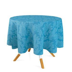 toalha-redonda-tecido-jacquard-azul-piscina-medalhao-tradicional