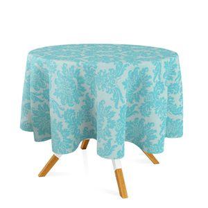 toalha-redonda-tecido-jacquard-azul-e-prata-frozen-medalhao-tradicional