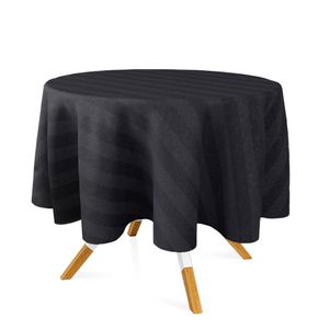 toalha-redonda-tecido-jacquard-preto-listrado-tradicional