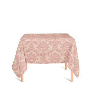 toalha-quadrada-tecido-jacquard-rosa-envelhecido-e-dourado-medalhao-tradicional