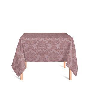 toalha-quadrada-tecido-jacquard-rose-e-marrom-medalhao-tradicional