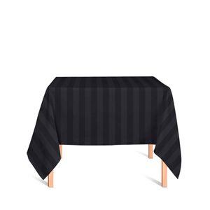 toalha-quadrada-tecido-jacquard-preto-listrado-tradicional