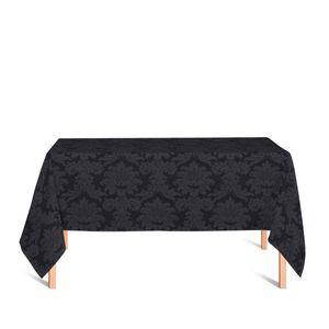 toalha-retangular-tecido-jacquard-preto-medalhao-tradicional