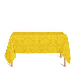 toalha-retangular-tecido-jacquard-amarelo-ouro-medalhao-tradicional