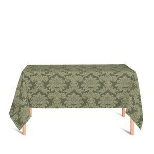 toalha-retangular-tecido-jacquard-verde-musgo-medalhao-tradicional