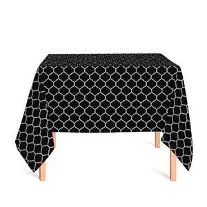 toalha-quadrada-tecido-jacquard-preto-e-cru-geometrico-tradicional