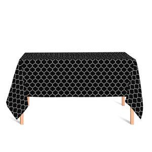 toalha-retangular-tecido-jacquard-preto-e-cru-geometrico-tradicional