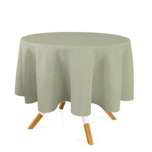 toalha-redonda-tecido-jacquard-dourado-e-turquesa-geometrico-tradicional