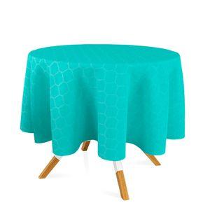 toalha-redonda-tecido-jacquard-azul-tiffany-geometrico