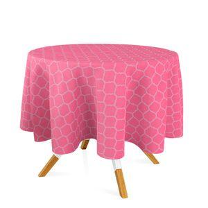 toalha-redonda-tecido-jacquard-rosa-pink-chiclete-geometrico