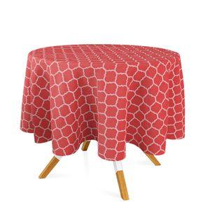 toalha-redonda-tecido-jacquard-vermelho-e-branco-geometrico
