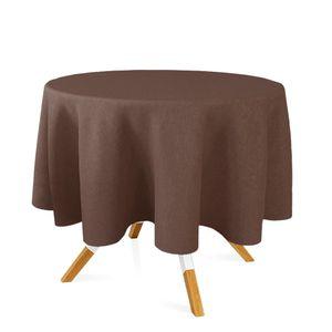 toalha-redonda-tecido-jacquard-marrom-e-bege-liso