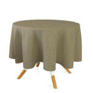 toalha-redonda-tecido-jacquard-bege-e-marrom-acinzentado-liso