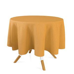 toalha-redonda-tecido-jacquard-dourado-liso