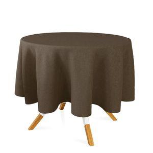 toalha-redonda-tecido-jacquard-marrom-e-turquesa-liso