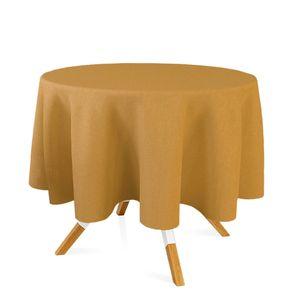 toalha-redonda-tecido-jacquard-dourado-e-preto-liso