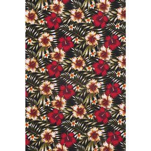 tecido-jacquard-estampado-hibisco-vermelho-fundo-preto-140m-de-largura