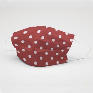 mascara-tecido-tricoline-estampado-poa-vermelho-e-branco