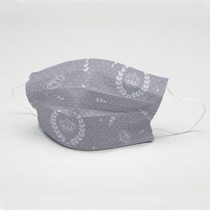 mascara-tecido-tricoline-estampado-coroa-cinza-e-branco
