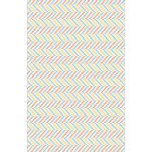 tecido-tricoline-estampado-chevron-amarelo-azul-rosa