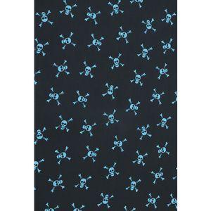 tecido-tricoline-caveira-turquesa-fundo-preto