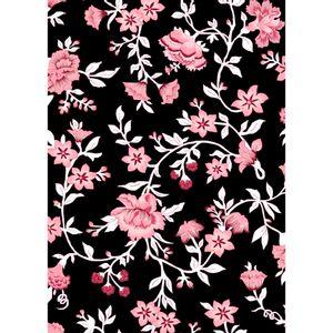tecido-tricoline-estampado-floral-rosa-e-marsala-fundo-preto