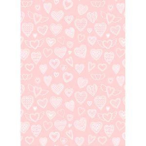 tecido-tricoline-estampado-coracao-fundo-rosa