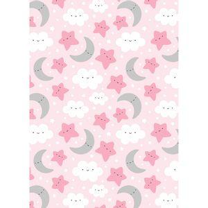 tecido-tricoline-estampado-nuvem-estrelinha-fundo-rosa
