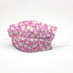 mascara-tricoline-estampado-florzinha-rosa