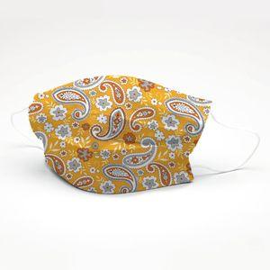 mascara-tricoline-estampado-arabesco-amarelo