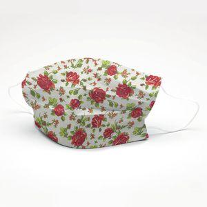 mascara-tricoline-estampado-floral-vermelho-fundo-perola
