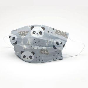 mascara-tricoline-estampado-panda-cinza