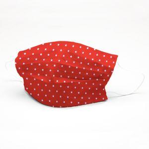 mascara-tricoline-estampado-estrela-fundo-vermelho