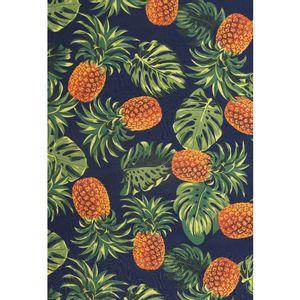 tecido-jacquard-estampado-abacaxi-fundo-marinho