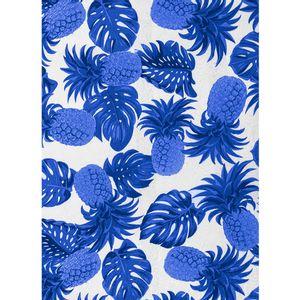 tecido-jacquard-estampado-abacaxi-azul-fundo-off-white