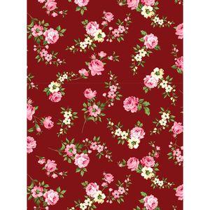 tecido-tricoline-floral-rosa-e-branco-fundo-marsala
