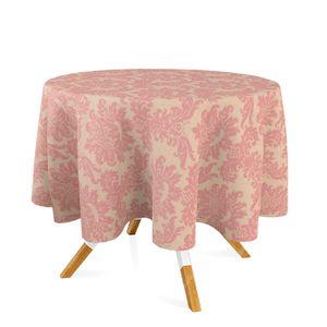 toalha-redonda-tecido-jacquard-rosa-envelhecido-dourado-medalhao-tradicional-280