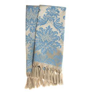 manta-tecido-jacquard-azul-e-dourado-medalhao-tradicional