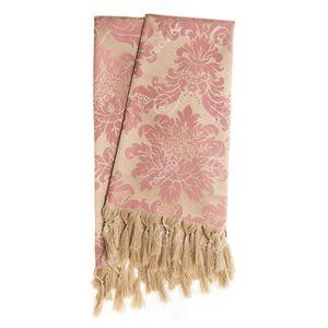 manta-tecido-jacquard-rosa-envelhecido-e-dourado-medalhao-tradicional