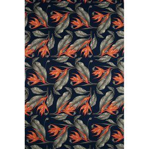 floral-laranja-fundo-marinho